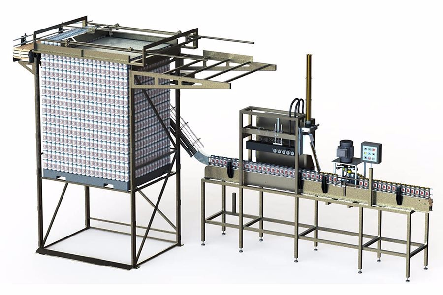 Automated Depalletizer Cask Global Canning Solutions